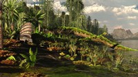 A Dimetrodon roams the Mid-Permian Period Fine-Art Print