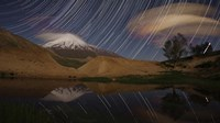 Star trails above Mount Damavand, Iran Fine-Art Print