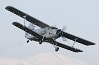 Bulgarian Air Force Antonov An-2 in flight over Bulgaria Fine-Art Print