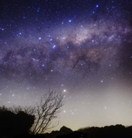 The Milky Way above a rural landscape in San Pedro, Argentina Fine-Art Print