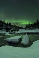 Aurora Borealis, Tennevik River, Troms, Norway Fine-Art Print