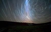 Star trails around the south celestial pole, Somuncura, Argentina Fine-Art Print