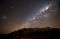 The Milky Way rising above the hills of Azul, Argentina Fine-Art Print