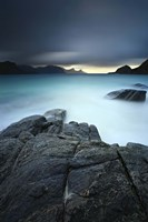 A long exposure scene at Haukland Beach in Lofoten, Norway Fine-Art Print