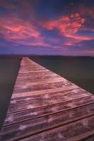 Alcudia Beach pier in Mallorca, Spain Fine-Art Print