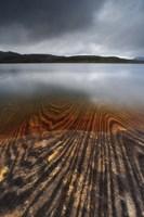Geology lines in Sandvannet Lake, Nordland County, Norway Fine-Art Print