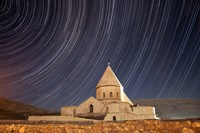 Star trails above Saint Thaddeus Monastery, Iran Fine-Art Print