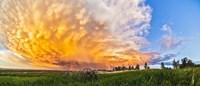 Panoramic view of mammatocumulus clouds, Alberta, Canada Fine-Art Print