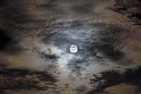 Full moon in clouds Fine-Art Print
