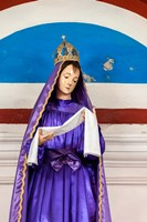 Church of Our Lady of the Remedies idol detail, Luanda, Angola Fine-Art Print