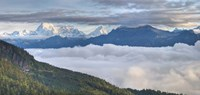 Asia, Bhutan, Mt Jumolhari, Chelela Pass Fine-Art Print