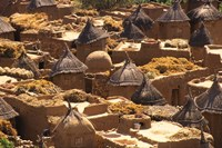 Flat And Conical Roofs, Village of Songo, Dogon Country, Mali, West Africa Fine-Art Print