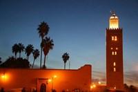 Africa, Morocco, Marrakesh, Koutoubia minaret Fine-Art Print