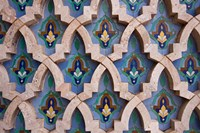 Wall tiles in Al-Hassan II mosque, Casablanca, Morocco Fine-Art Print