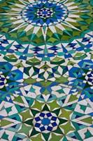 Floor tiles in Al-Hassan II mosque, Casablanca, Morocco Fine-Art Print