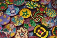 Ethiopia: Tigray, Axum, woven baskets, market Fine-Art Print