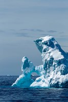 An arched iceberg floating in Gerlache Strait, Antarctica. Fine-Art Print