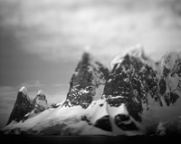 Antarctica, Mountain peaks along Cape Renaud in Lemaire Channel. Fine-Art Print