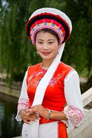 Bai Minority Woman in Traditional Ethnic Costume, China Fine-Art Print