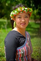 China, Yunnan, Young Dulong Portrait with Ethnic Costume Fine-Art Print