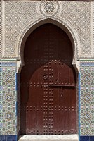 Archway with Door in the Souk, Marrakech, Morocco Fine-Art Print