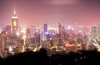 Central Overview from Stubbs Road Lookout, Hong Kong, China Fine-Art Print