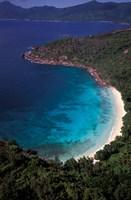 Aerial View of Tropical Beach, Seychelles Fine-Art Print
