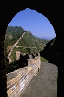Great Wall of China Viewed through Doorway, Beijing, China Fine-Art Print