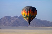 Aerial view of Hot air balloon over Namib Desert, Sesriem, Namibia Fine-Art Print