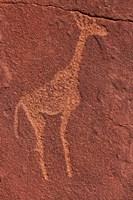 Ancient rock etchings, Twyfelfontein, Damaraland, Namibia Fine-Art Print