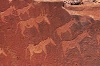 Ancient rock etchings, Twyfelfontein, Damaraland, Namibia, Africa. Fine-Art Print
