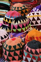Colorful Head Wear For Sale, Luxor, Egypt Fine-Art Print