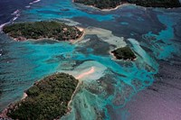 Aerial View of Ste Anne Marine National Park, Seychelles Fine-Art Print