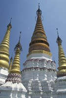 Gold Pagoda Spires of the Golden Temple, China Fine-Art Print
