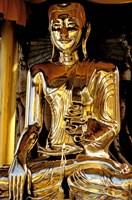 Golden Buda of Shwedagon Pagoda, Yangon, Myanmar Fine-Art Print