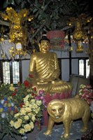 Gold Tiger and Bhuddha Sculpture at the Golden Temple, China Fine-Art Print