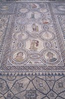 Abduction of Hylas Mosaic on Floor of an Ancient Roman Building, Morocco Fine-Art Print