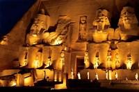 Egypt, Abu Simbel, Greater Temple of Ramses II, Columns Fine-Art Print