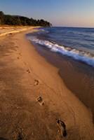 Africa, Tanzaniz, Lake Tanganika. Beach footprints Fine-Art Print