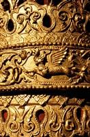 Decorated Column, Sule Paya, Yangon, Myanmar Fine-Art Print