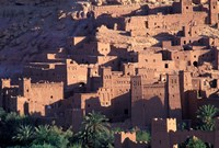 Ait Benhaddou Ksour (Fortified Village) with Pise (Mud Brick) Houses, Morocco Fine-Art Print