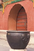 Fire Kettle by Doorway of the Palace Museum, Beijing, China Fine-Art Print
