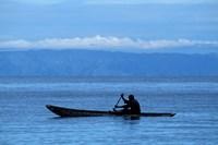 Canoe on Lake Tanganyika, Tanzania Fine-Art Print