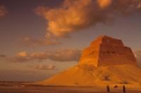 First Pyramid of Pharaoh Snerfu, 4th Dynasty, Meidum, Old Kingdom, Egypt Fine-Art Print