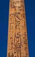 Egypt, Temple of Luxor, Hieroglyphics, Obelisk of Ramesses II Fine-Art Print