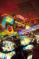 Double exposure, casino signs, Reno, Nevada Fine-Art Print