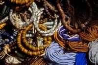 Detail of Beads for Jewelry Making, Makola Market, Accra, Ghana Fine-Art Print