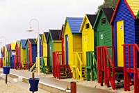 Colorful Changing Houses, False Bay Beach, St James, South Africa Fine-Art Print
