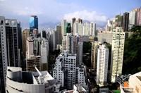 Apartment Buildings of Causeway Bay District, Hong Kong, China Fine-Art Print