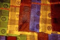 Detail of Adinkra Cloth, Market, Sampa, Brongo-Ahafo Region, Ghana Fine-Art Print